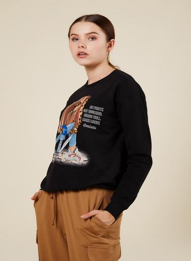 Coral Sweatshirt Siyah